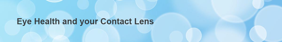 Eye health and contact banner