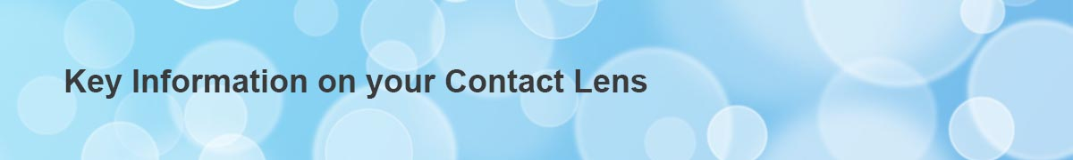 key info on contact lens banner